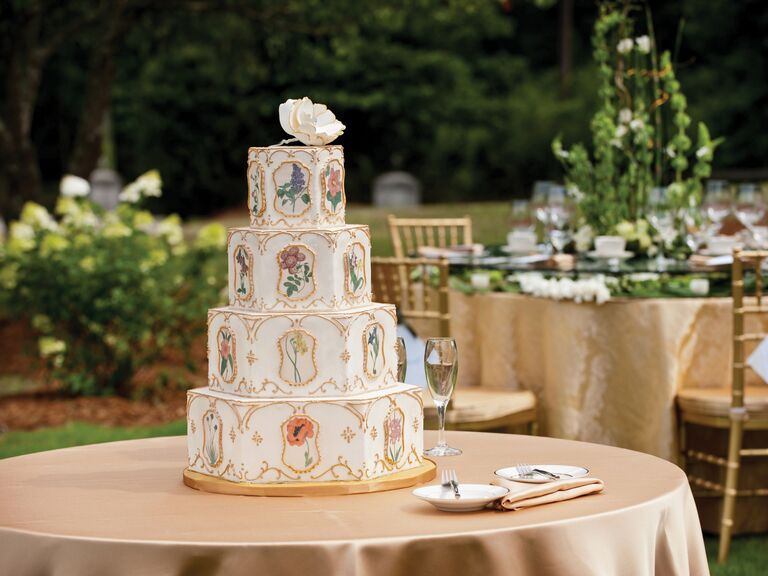 how much is a average wedding cake wedding cake how much do wedding cakes cost 15489