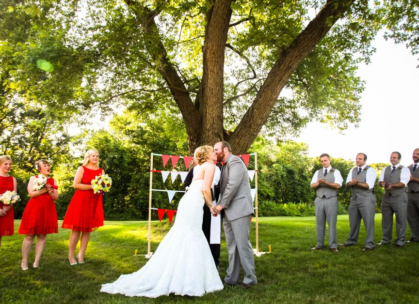 Personalized Vows At Retro Outdoor Ipswich, Massachusetts