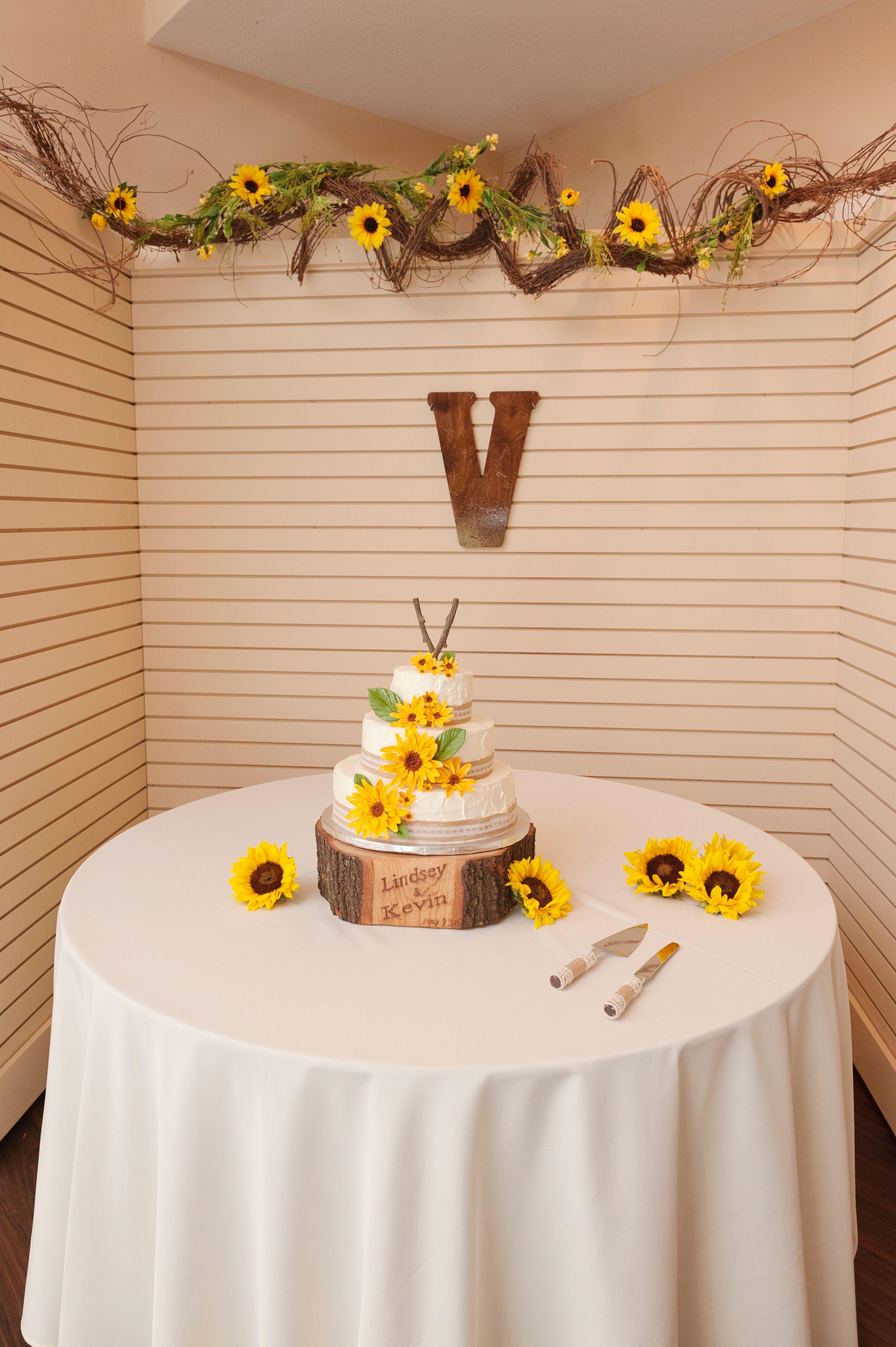 Sunflower Wedding Cakes Desserts