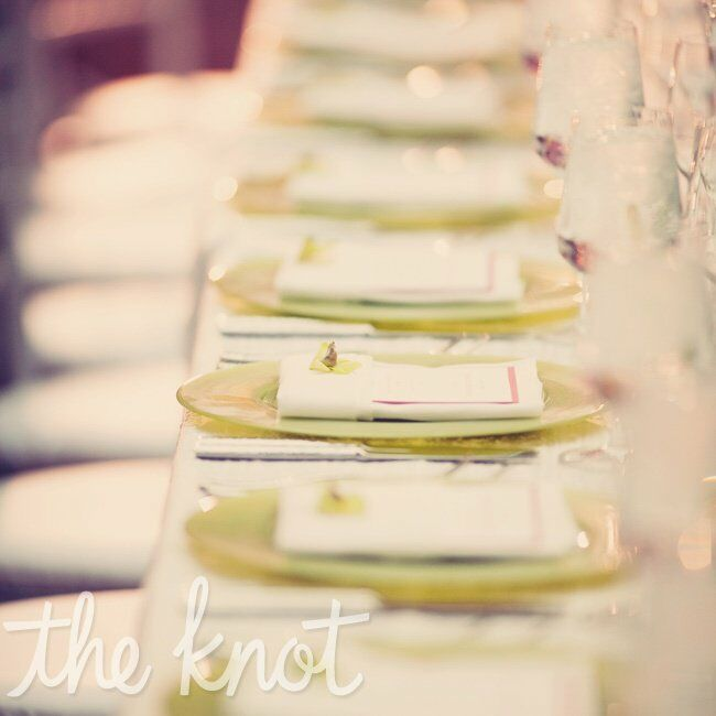 Light Green Table Settings