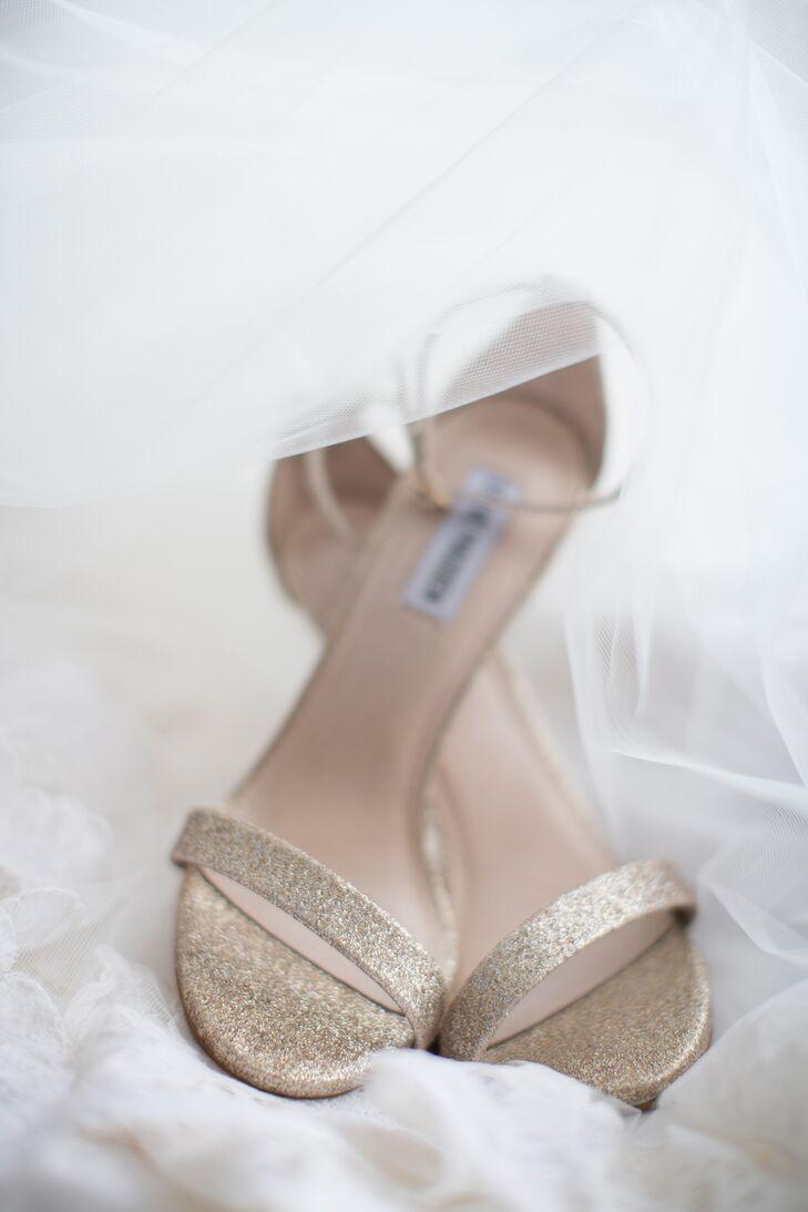 Gold Shimmer Steve Madden Wedding Shoes