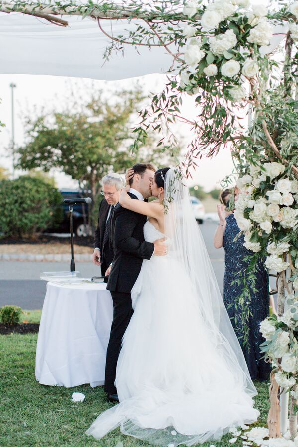 Vine and White Floral Covered Chuppah