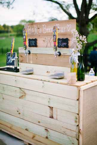Locally brewed beer bar with IPA and Lager