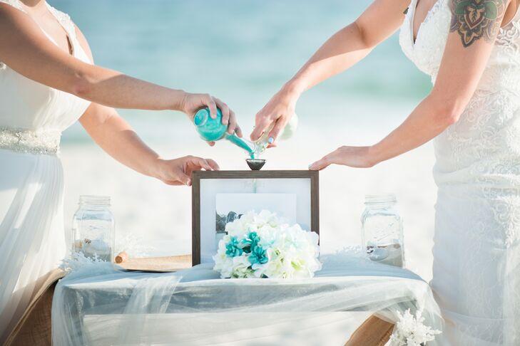 Intimate Beach Wedding, Sand Ceremony