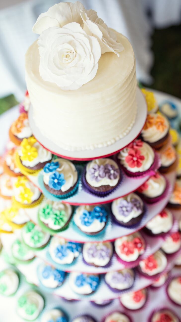 a rainbow backyard wedding at a private residence in whitehouse