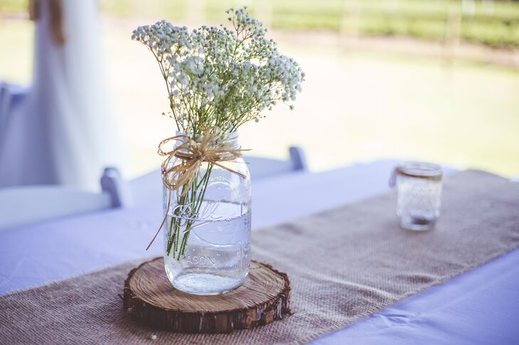 Mason Jar And Baby S Breath Centerpieces