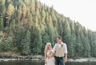 Betsy and Nick Thiry drew inspiration from the forested mountains and shimmering Clearwater River surrounding the River Dance Lodge to give their earl