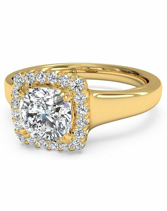 Ritani Cushion French-Set Halo Diamond Engagement Ring in 18kt Yellow Gold (0.13 CTW) Engagement Ring photo