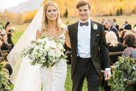For their destination wedding, Texans Lisa Fred (27 and an interior designer) and John Guarino (27 and a furniture importer) headed to Aspen, where Jo
