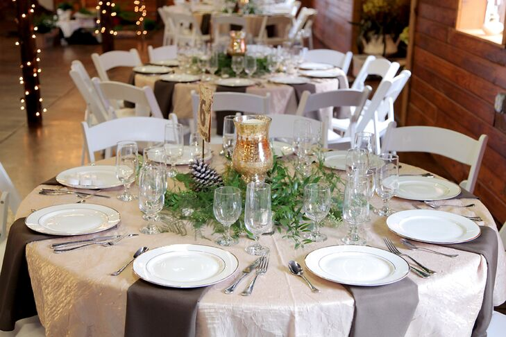 Natural Winter Reception Dining Tables