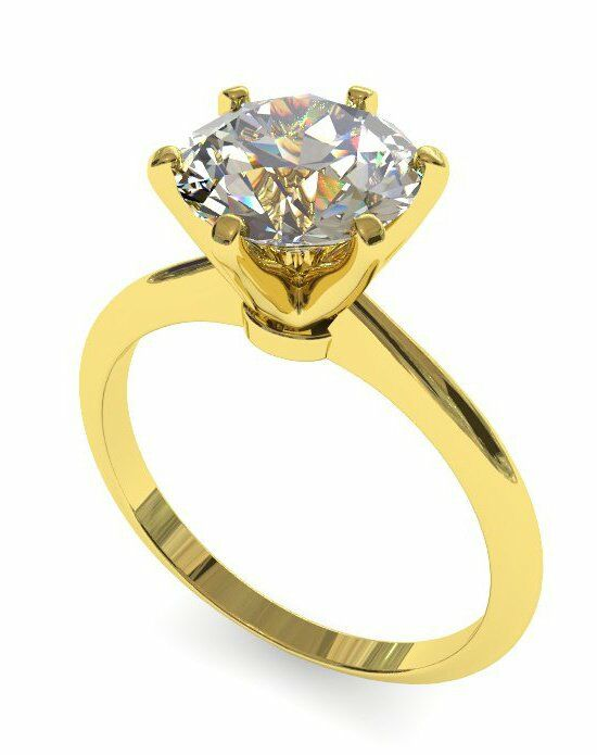 Enchanted Diamonds Six-Prong Knife Edge Solitaire SL5-4Y-R Engagement Ring photo