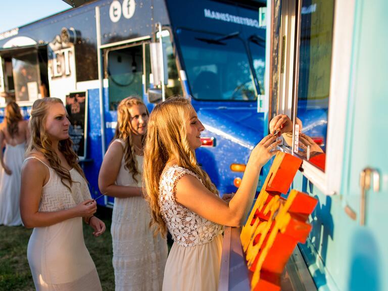 Wedding reception food trucks