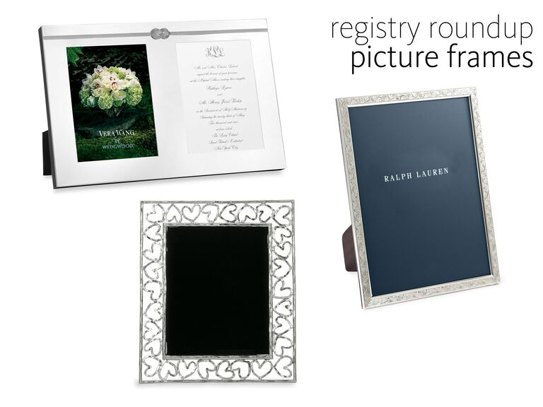 Three silver picture frames registry roundup