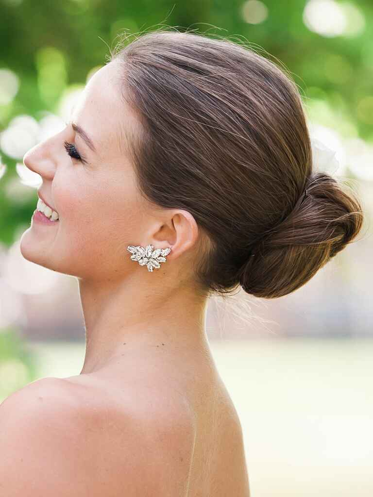 Wedding hair twisted chignon updo