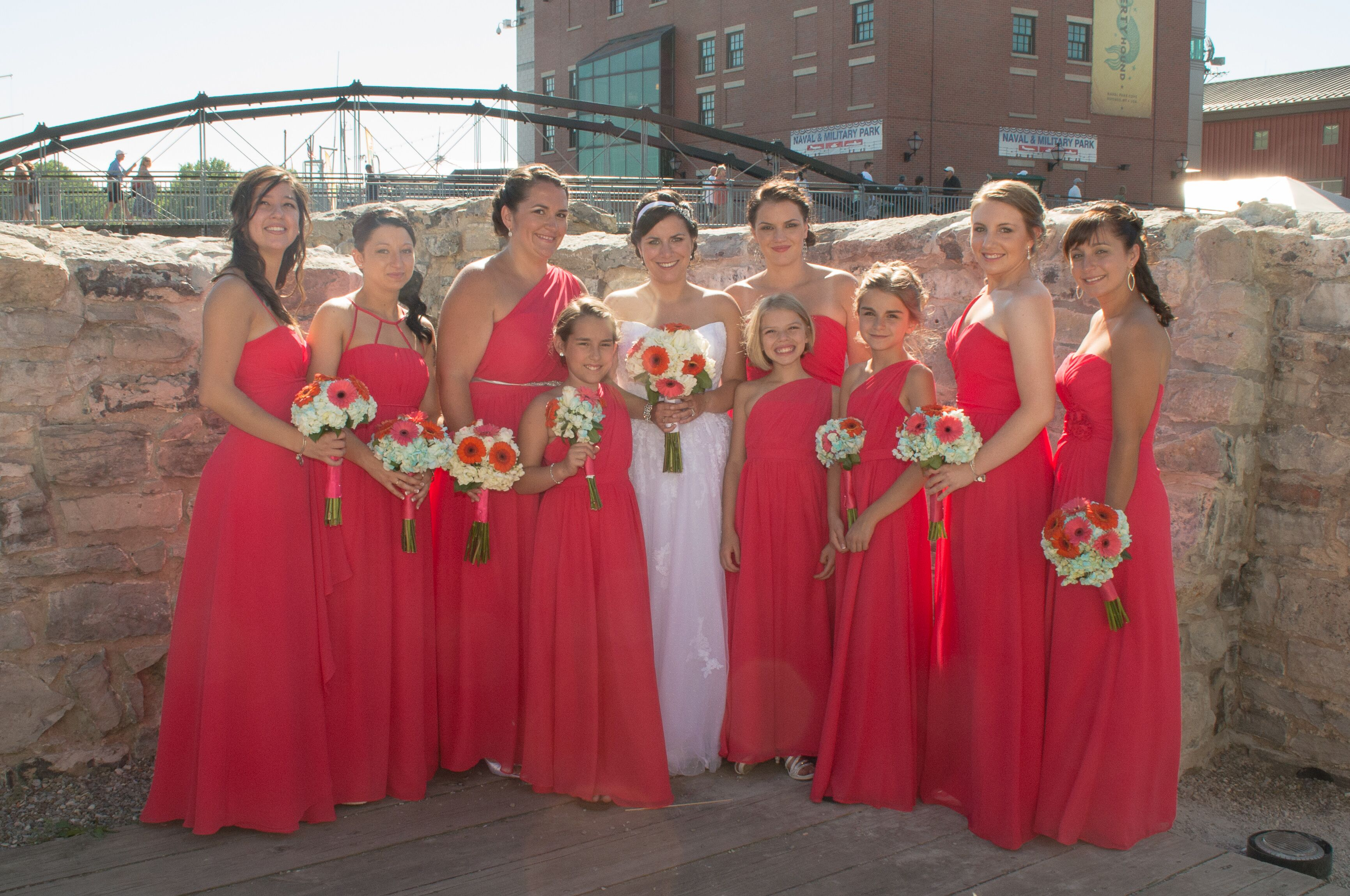 Pomegranate Maxi Bridesmaid Dresses