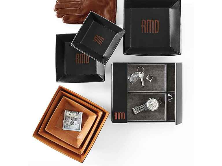 Leather valet engagement gift ideas