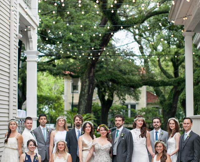 A Simple Outdoor Wedding At Degas House In New Orleans Louisiana