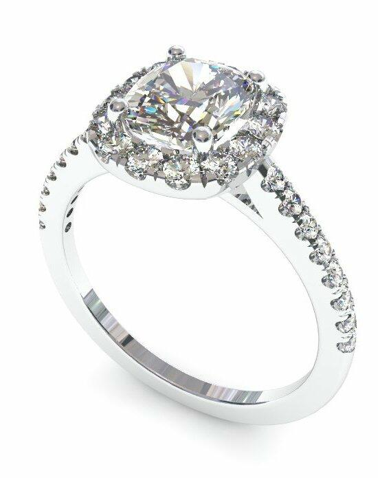 Enchanted Diamonds Petite Halo Scalloped Cushion HL7-PT-C Engagement Ring photo