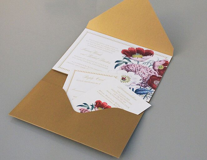 Wedding invitation templates that are cute and easy to make poppy pocket fold wedding invitation template stopboris Images
