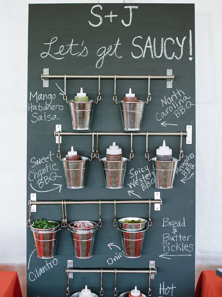 Sauce Station For A BBQ Wedding Reception