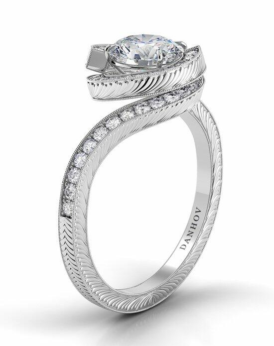 Danhov Abbraccio Engraved Swirl Engagement Ring photo