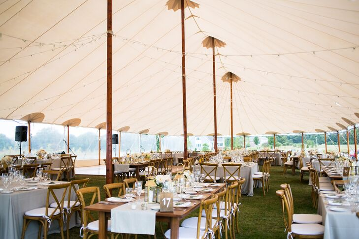 Laudholm Farm Chic Rustic Tented Reception
