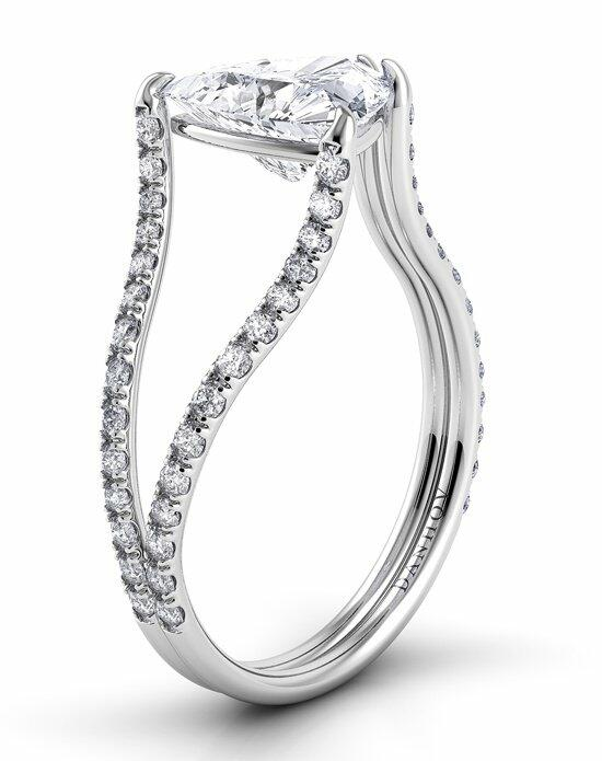 Danhov Eleganza 1 Sided Split Shank Engagement Ring photo