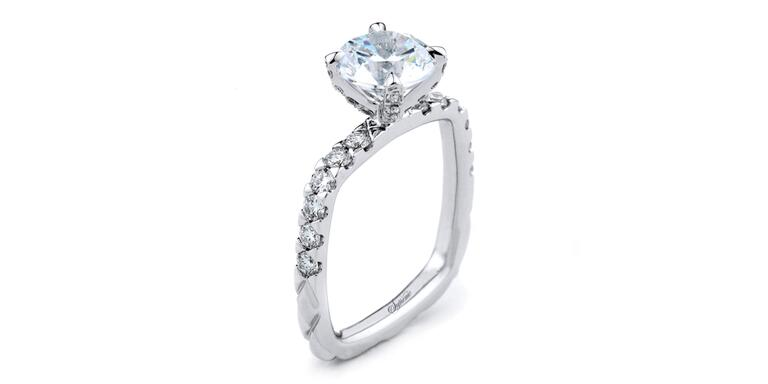 Rahaminov Forevermark double halo engagement ring