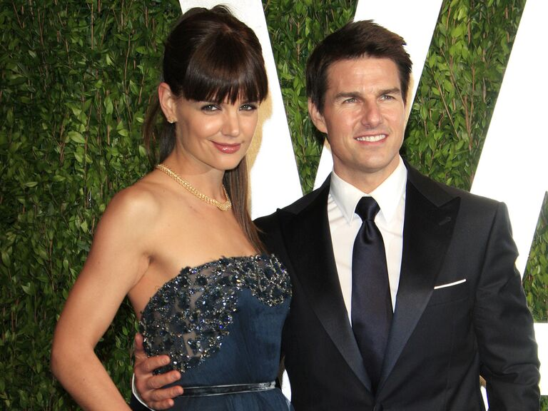 Katie Holmes And Tom Cruise Pose At An Event Together