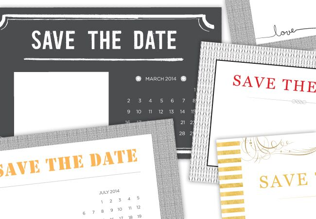 Printable DIY SaveTheDate Templates - Diy save the dates templates