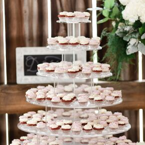 Tiered Mini Cupcake Lucite Display