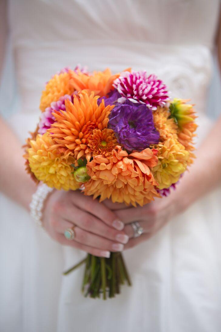 Bright mum bridal bouquet for Bright wedding bouquet