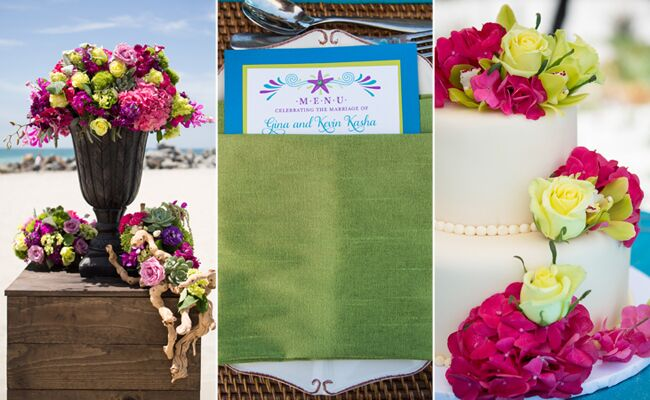 A Vibrant Beach Wedding | Vallentyne Photography | blog.TheKnot.com