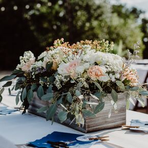 Rustic Flower Box Centerpieces