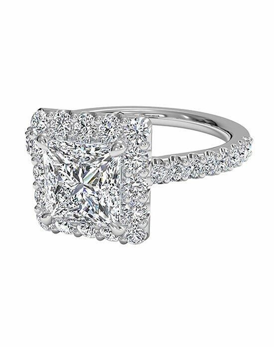 Ritani Princess Cut French-Set Halo Diamond Band Engagement Ring in 18kt White Gold (0.45 CTW) Engagement Ring photo