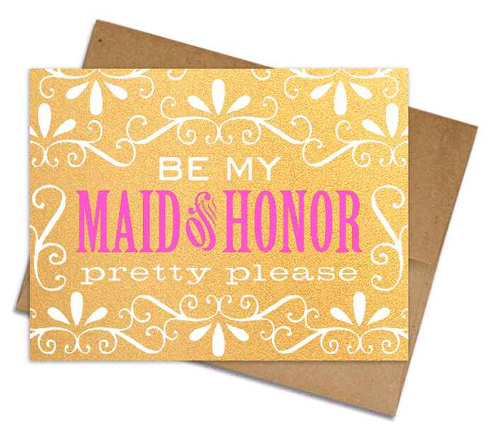 Two Trick Pony maid of honor proposal card