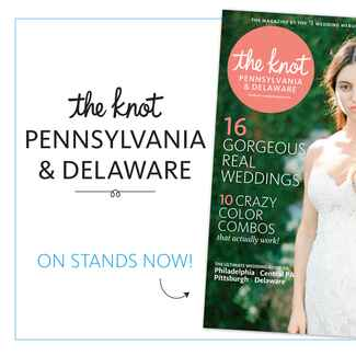 The Knot Pennsylvania and Delaware fall and winter 2015 issue on newsstands now