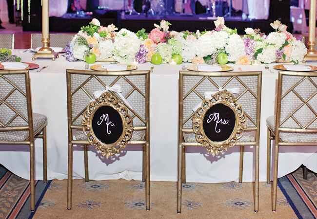 11 Chair Signs For The Bride And Groom
