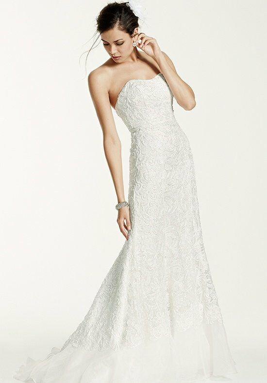 David's Bridal Galina Signature Style SWG400 Wedding Dress photo