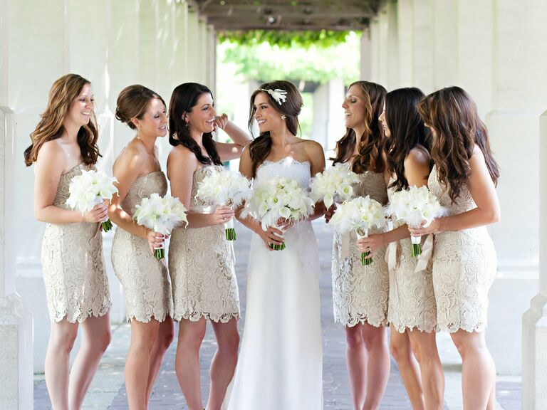 Real Lace Bridesmaid Dresses