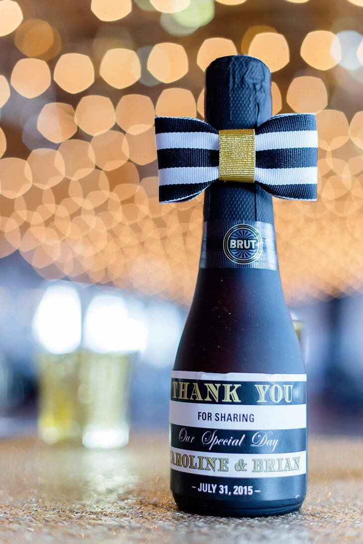 Personalized Champagne Bottle Wedding Favors