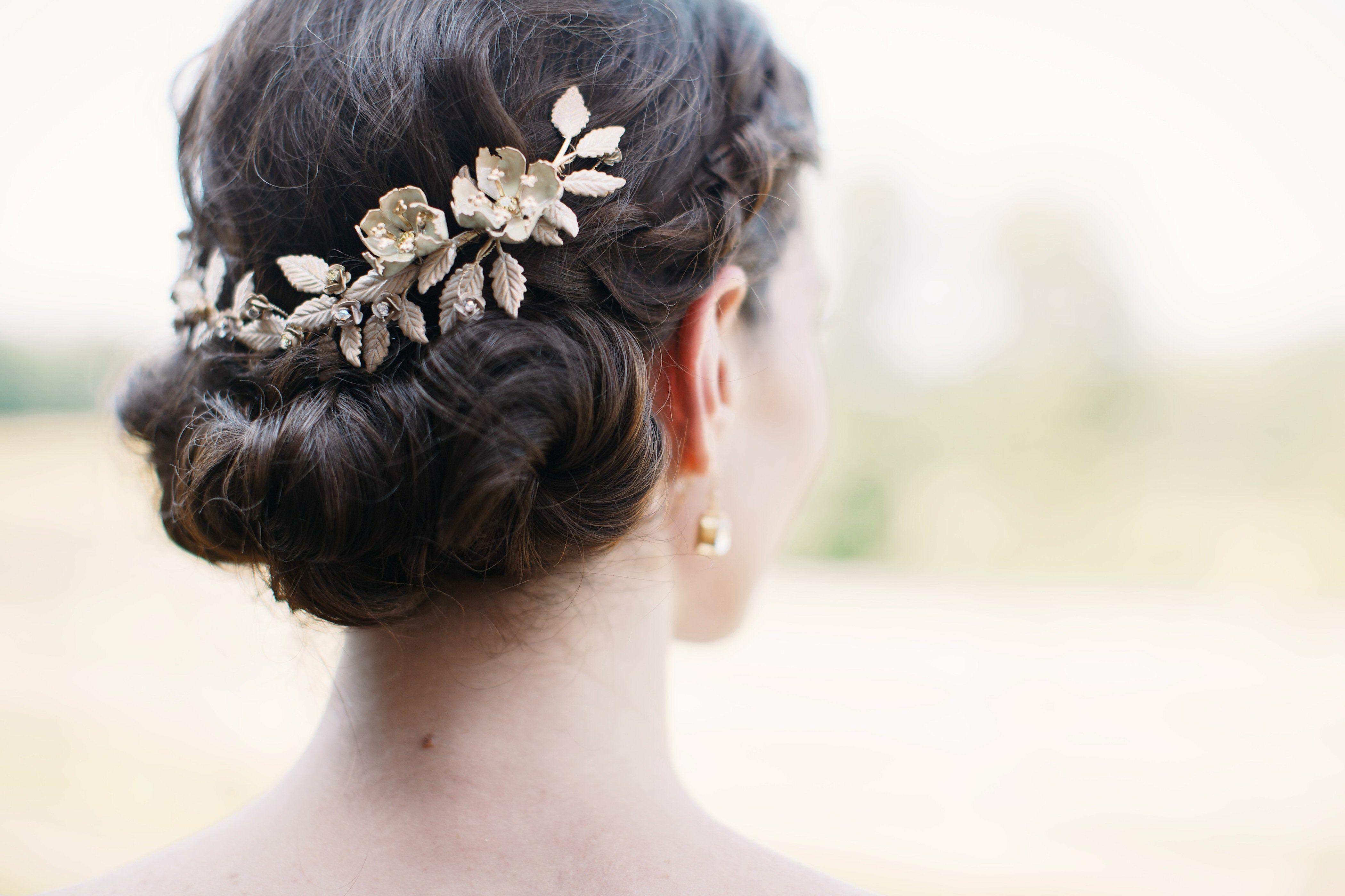 Low Bun Bridal Hairstyle