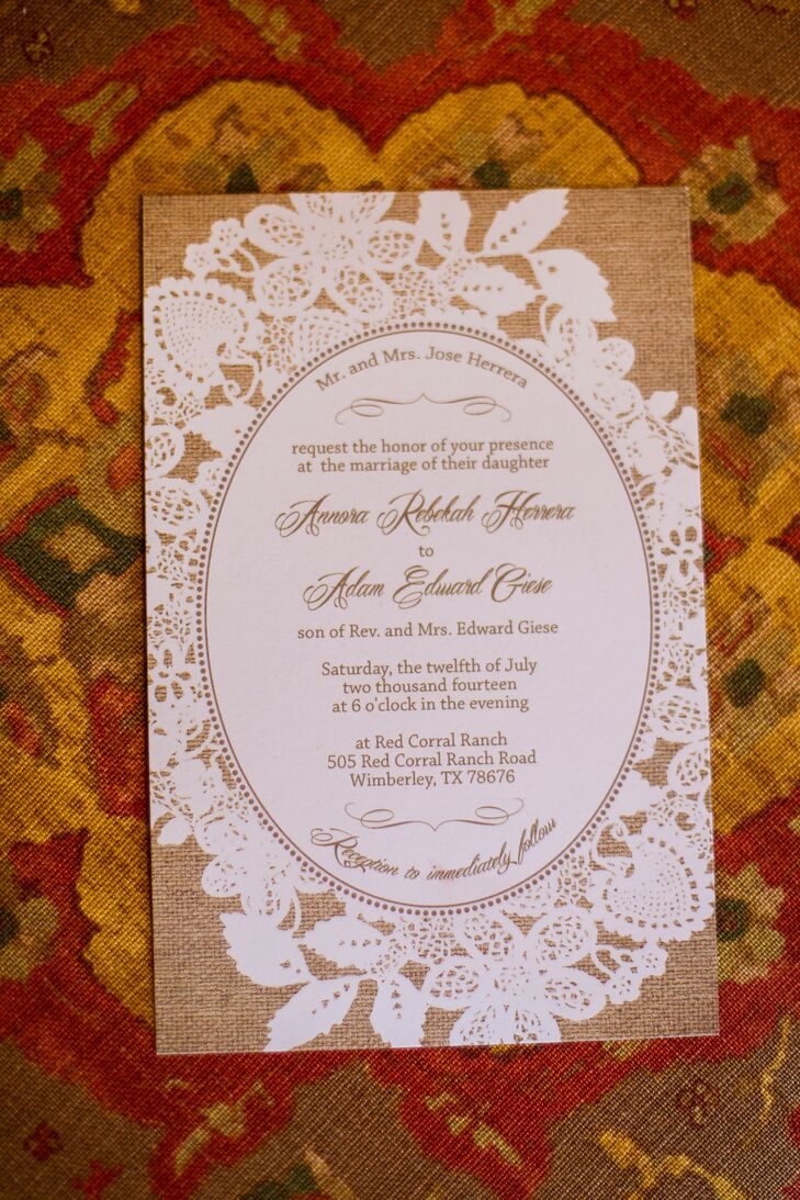Rustic Lace And Burlap Wedding Invitation Stationery