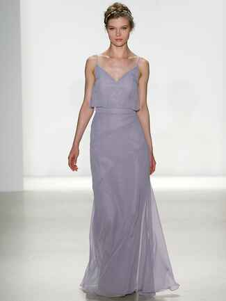 Kelly Faetanini Spring 2018 blousy top chiffon gown