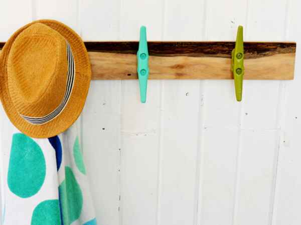 DIY a Cleat Towel Rack to bring the beach home!