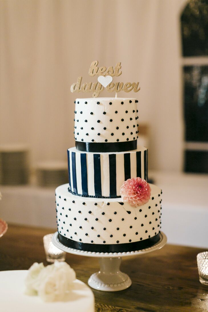 wedding cake stripes and polka dots polka dot and stripe wedding cake 25766
