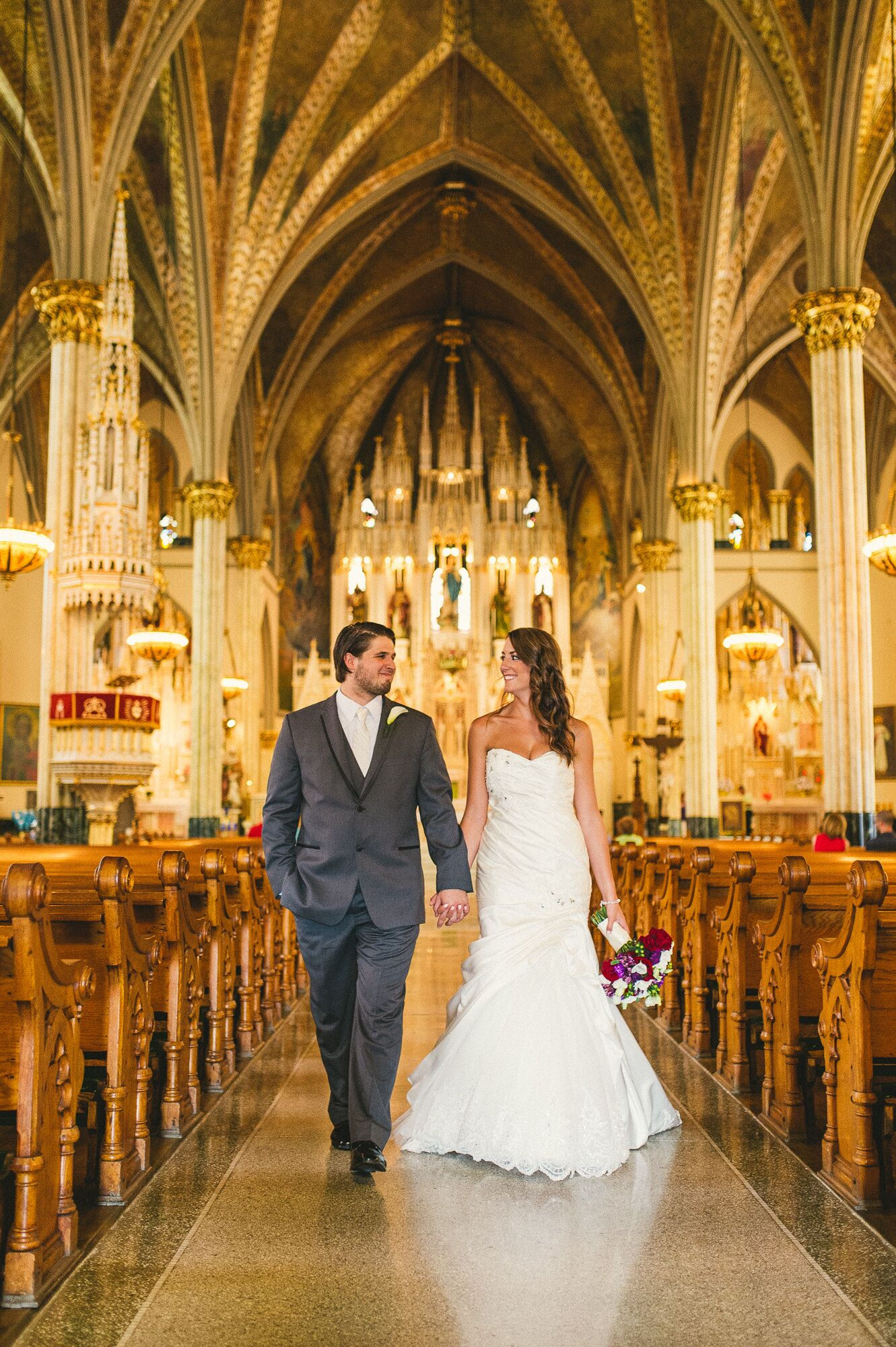 A Romantic Church Wedding At Sweetest Heart Of Mary