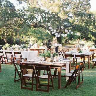 outdoor reception ideas rustic