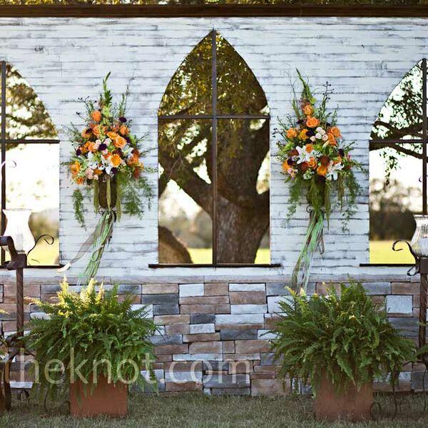 Outdoor Ceremony Altar: Tall Candelabra Centerpieces