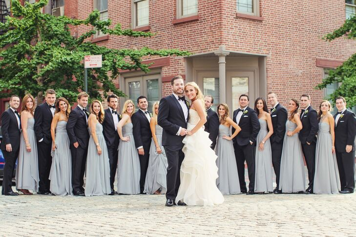 Black and White Wedding Party Dresses